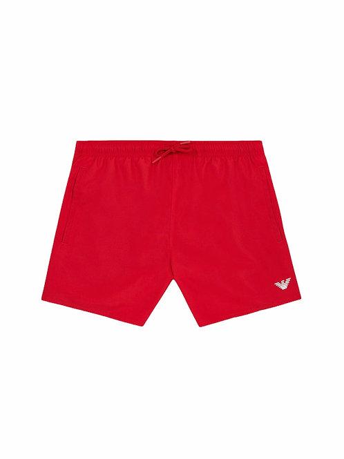 Armani Costume Boxer Medio Aquiletta - Rosso