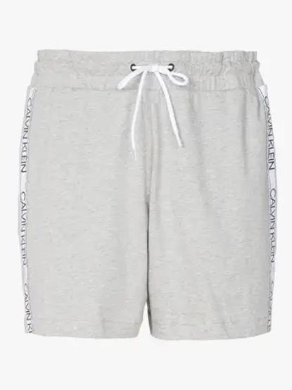 CK - Pantaloni Corti LogoBand - Grigio