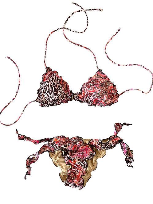 Costume Triangolo+Bras - Mantra - F**K - Leo\Rosa