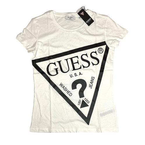 TShirt Big Logo - Guess - Bianco