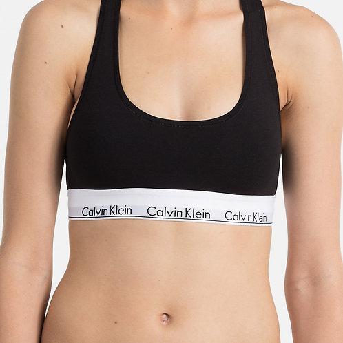 F3785E - 001 - Bralette CK Modern Cotton - Nero
