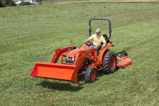 L2501 w/ loader & rotarycutter3