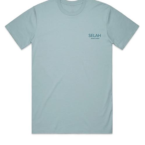 Pause & Reflect T Shirt (Blue)