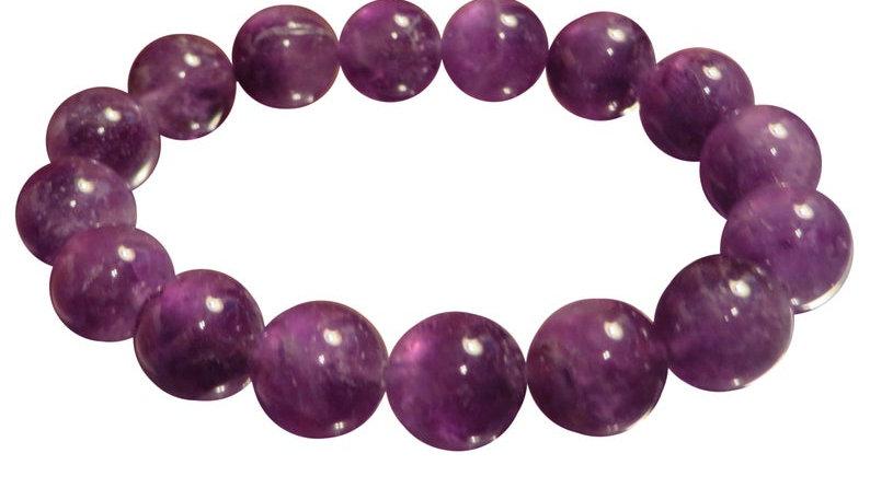 Natural Dark Purple Amethyst Bracelet Healing Crystal Chakra Energy Beads
