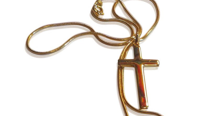 18k Gold Cross Necklace For Women Crucifix Jewelry