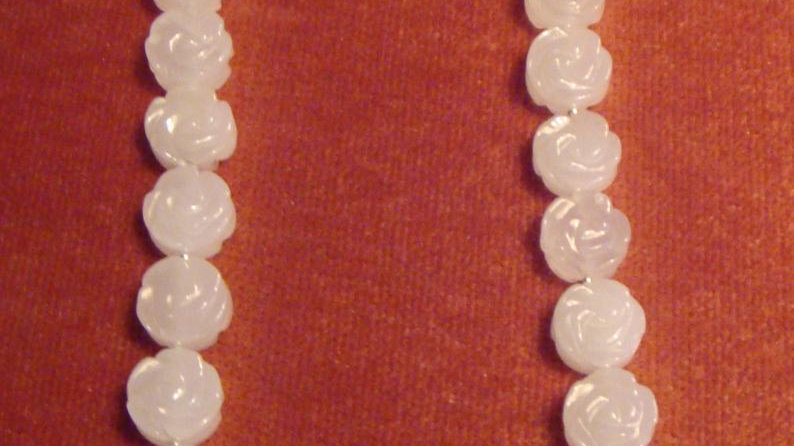 Sterling Silver White Quartz Necklace Gemstone Crystal Stone Beaded Jewellery