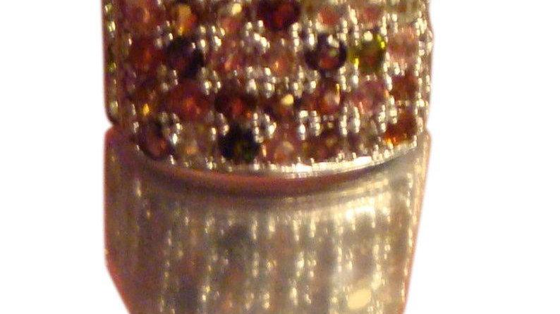 925 Sterling Silver Natural GenuineTourmaline Engagement Ring October Birthstone