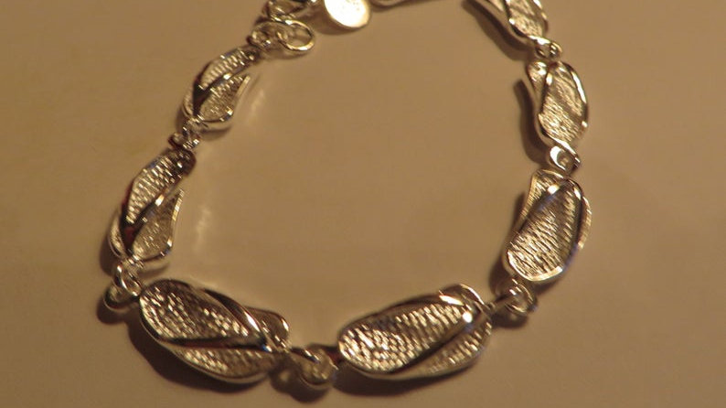 Sterling Silver Plated Bracelets For Women Ladies Jewelry Chunky Link
