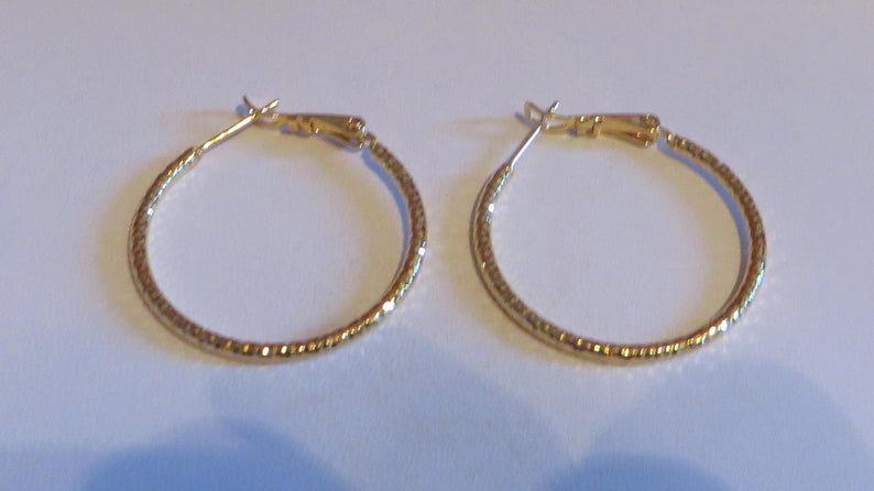18k Gold Hoop Earrings For Women Large Big