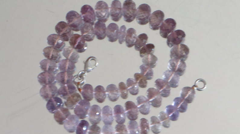 275 Carats Natural Purple Ametrine Faceted Rondelle Beads 16.25 Inches Strand