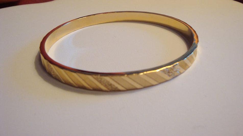 9k Gold Filled Bangles Bracelet Stacking