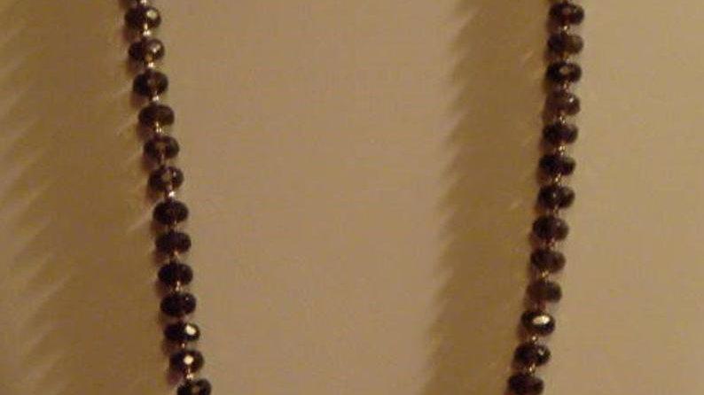 Sterling Silver Smoky Quartz Necklace Gemstone Healing Crystal Stone Beaded
