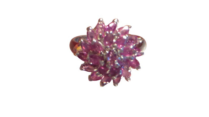 925 Sterling Silver Pink Tourmaline Engagement Ring Promise