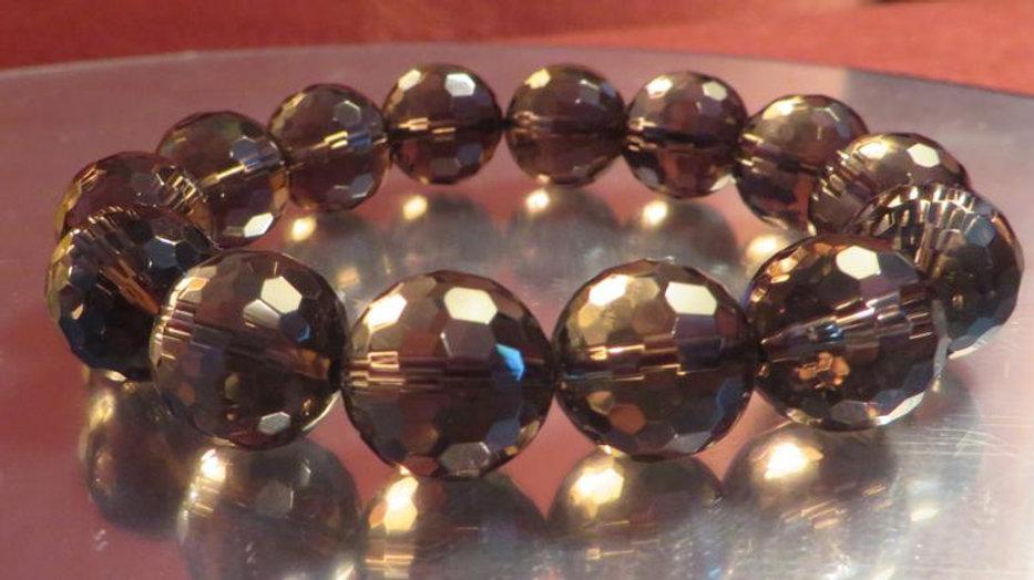 Smoky Smokey Quartz Bracelet Healing Chakra Energy Crystal Beads Stone