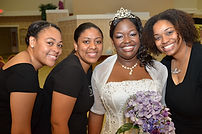 Our team with a satisfied bride on her wedding day!