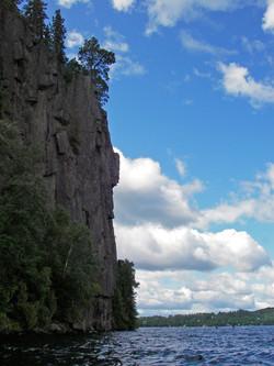 Oliver Lake cliffs