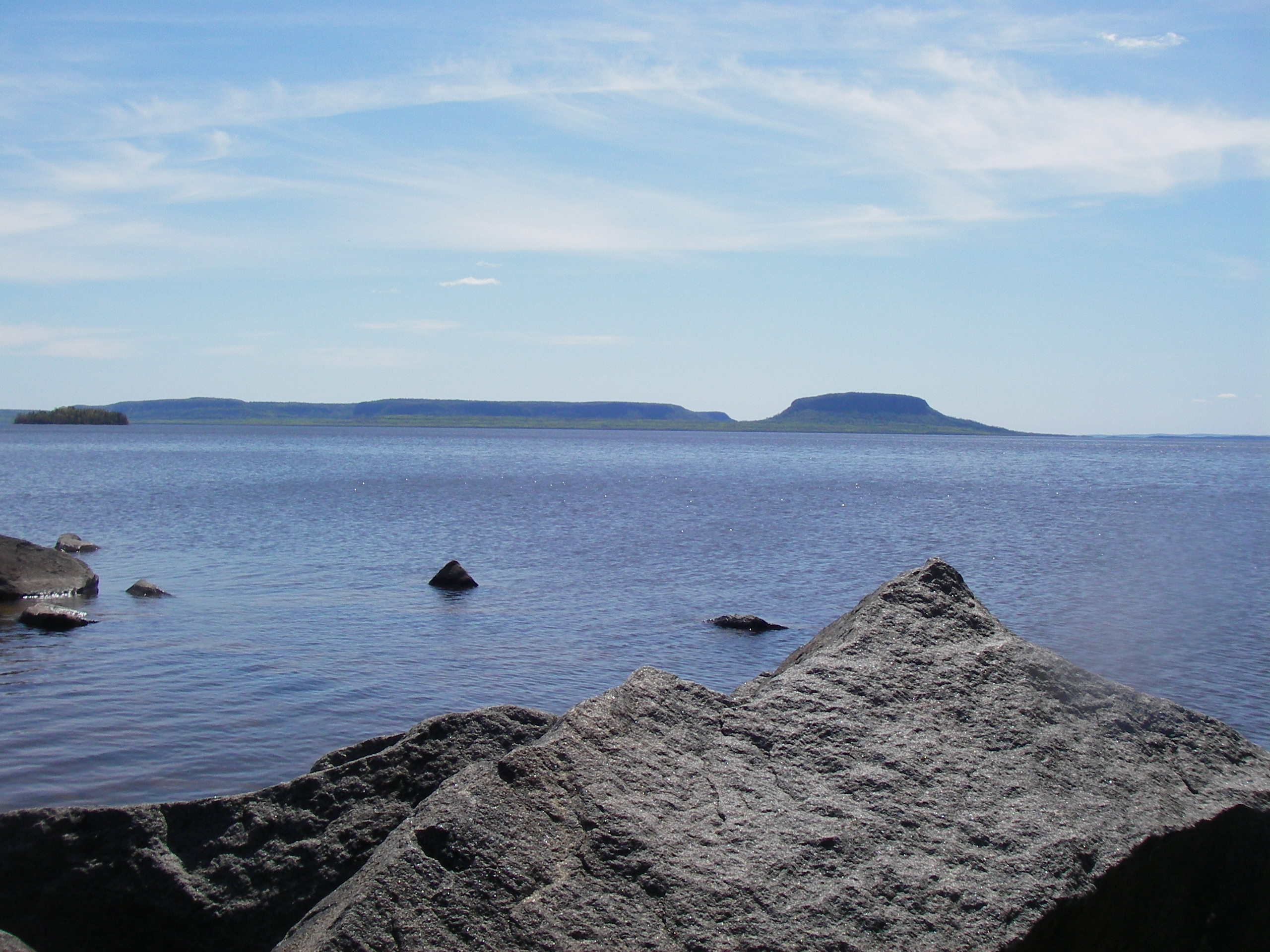 Pie Island seen from Squaw Bay