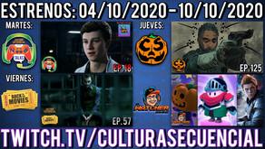 Estrenos para la semana del 04 al 10 de octubre del 2020.