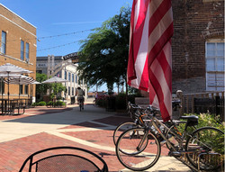 flag bikes on trail