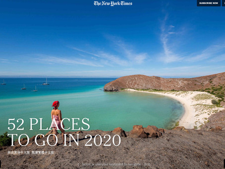 NY Times - 52 Places To Go In 2020