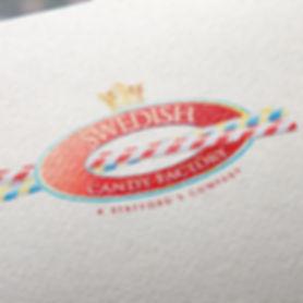 Swedish Candy Factory logo design