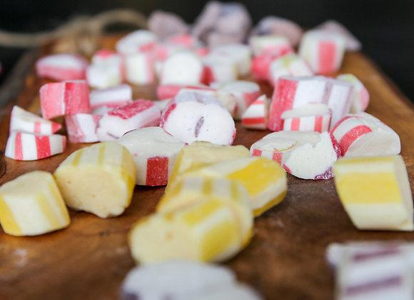 Super Sour Lemon Polkagris Bites