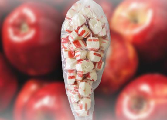 Sour Apple Polkagris Bites