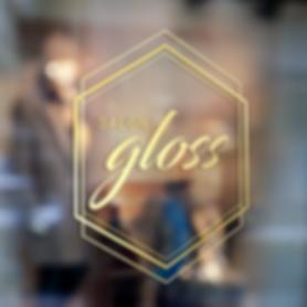 logo design salon gloss paso robles