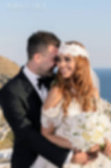 Bride and Groom, happy couple, wedding day, mykonos wedding, greek wedding