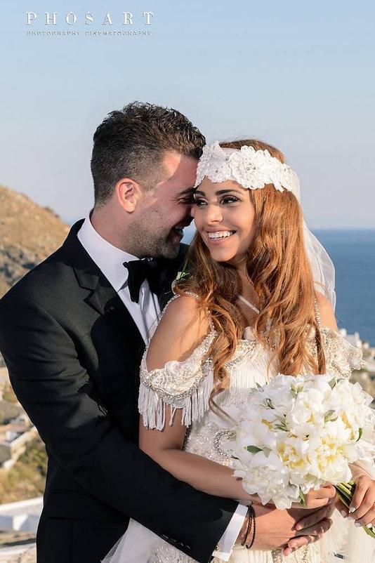 Bride and Groom, happy couple, wedding day, mykonos wedding, greek wedding