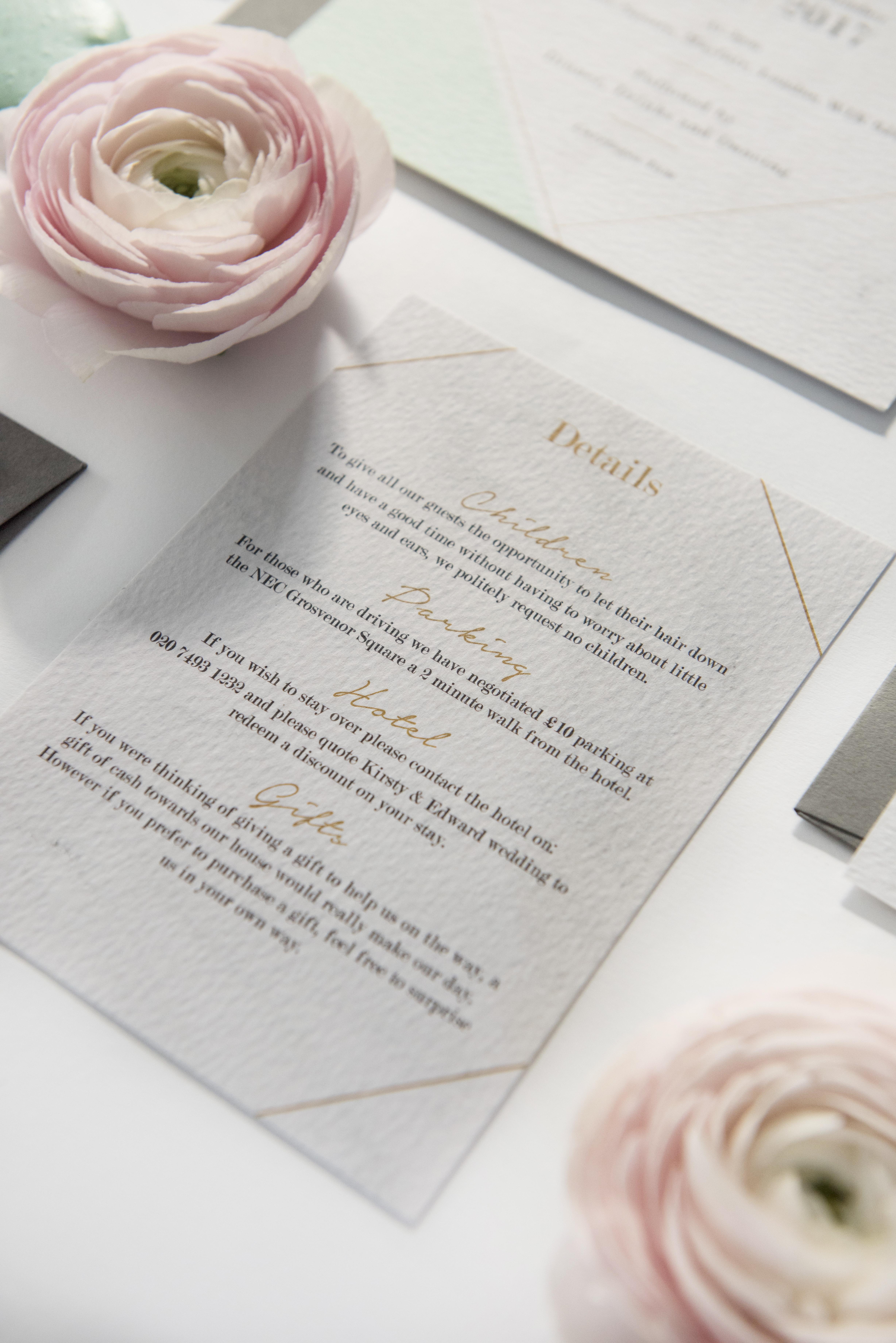 Geometric Details Card