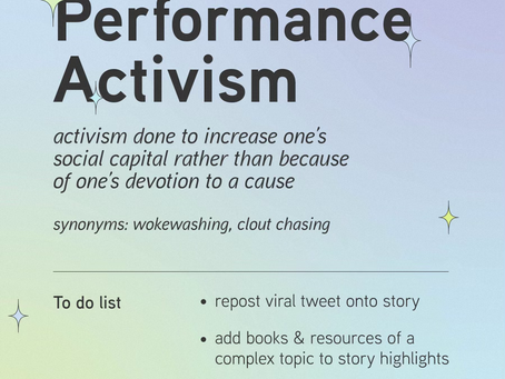 The Problem with Performative Activism
