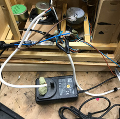 12v plug in power supply originally used, replaced with a safer supply