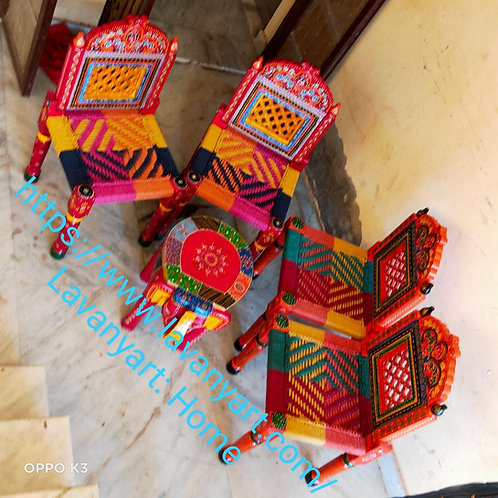 Wooden chair paintings