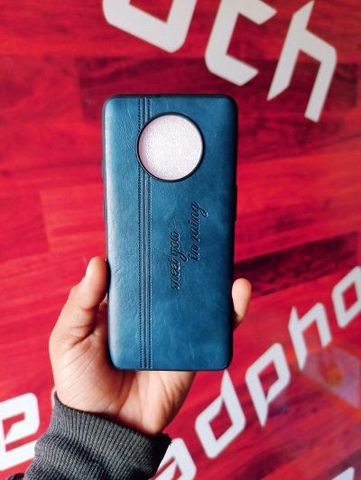 OnePlus 7T Leather Back Cover Latest(Red/Blue/Brown)Designed for OnePlus 7T Mobi