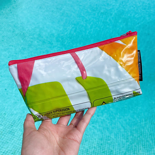 Tropical Leaves Small Pouch / Petite Pochette Feuilles Tropical