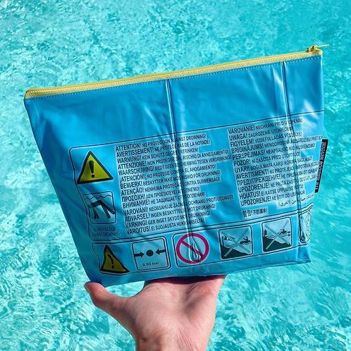 Blue Hazards Large Pouch / Grande Pochette Hazards Bleu