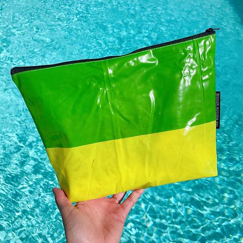 Green & Yellow Large Pouch / Grande Pochette Vert & Jaune