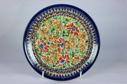 """Side plate UNIKAT """"orange flowers"""""""