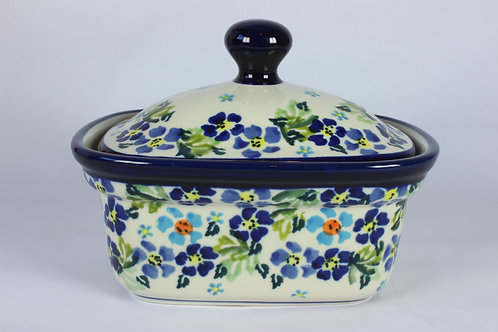 "Butter box ""blue flowers"""
