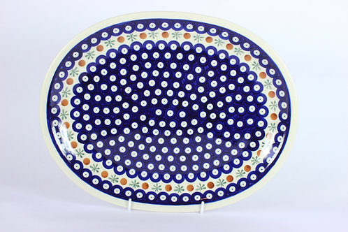 "Large platter ""red dot"""