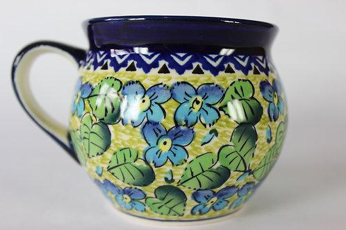 """Farmer's mug (medium) """"green leaves"""" factory second"""