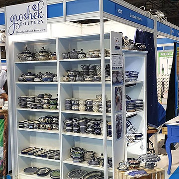 All set up at the Ideal Home Show at SEC