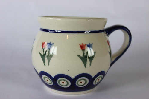 "Farmer's mug (small) ""tulip"" factory second"