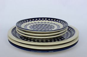 Polish Pottery Side and Dinner Plates