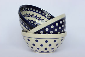 Polish Pottery Soup and Cereal Bowls