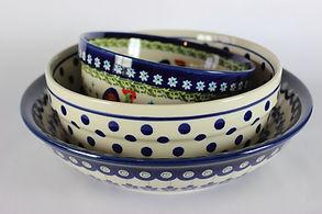 Polish Pottery Serving Bowls Salad Bowls Fruit Bows
