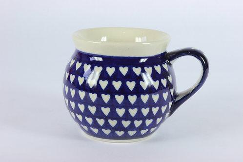 """Farmer's mug (small) """"hearts"""""""