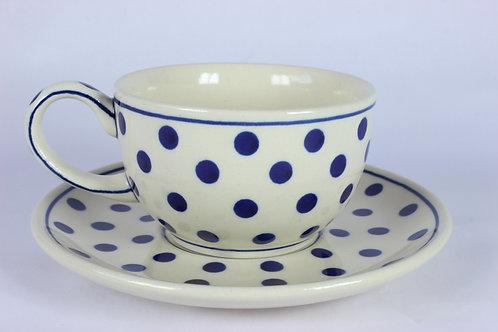 """Cup and saucer """"polka dot"""""""