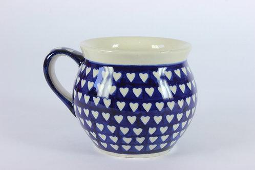 """Farmer's mug (medium) """"hearts"""""""
